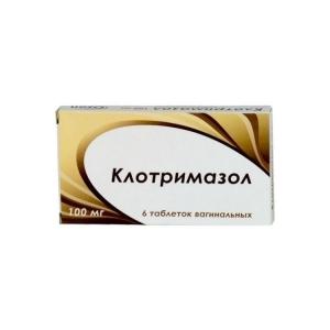 КЛОТРИМАЗОЛ 100мг N6 таб. вагинальные Озон