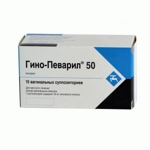 ГИНО-ПЕВАРИЛ 50мг N15 суппозитории Cilag