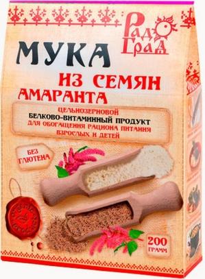 МУКА амарантовая цельнозерновая 200 гр