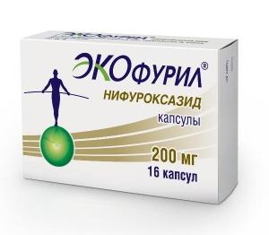 ЭКОФУРИЛ 200мг N16 капс. АВВА РУС