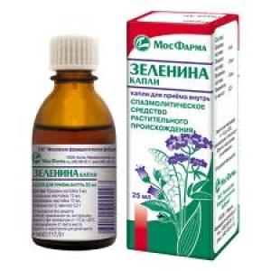 ЗЕЛЕНИНА КАПЛИ 25мл д/приема внутрь Ярославская фармфабрика ЗАО