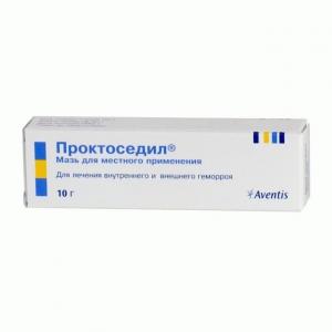 ПРОКТОСЕДИЛ 10г мазь д/местного применения Aventis Pharma