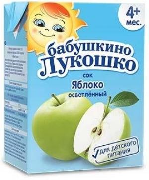 БАБУШКИНО ЛУКОШКО 200мл сок тетра-пак Комплекс Агро ООО Россия Яблоко 3+ осветленный