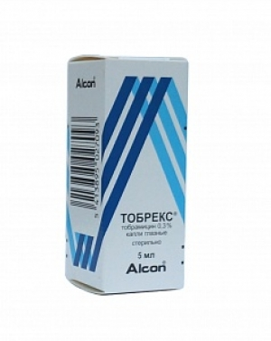 ТОБРЕКС 0,3% 5мл капли глазные Алкон