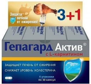 ГЕПАГАРД АКТИВ капс. 0,36г N30х4уп Биос НПФ