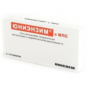 ЮНИЭНЗИМ С МПС N20 таб. покрытые оболочкой Unichem Laboratories Ltd