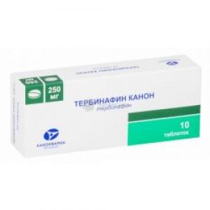 ТЕРБИНАФИН КАНОН 250мг N10 таб. Канонфарма