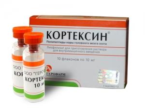 КОРТЕКСИН 10мг (22мг) N10 лиофилизат д/приготовления р-ра для в/м введения Фермент Фирма
