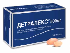 ДЕТРАЛЕКС 500мг N30 таб. покрытые пленочной оболочкой Сердикс ООО
