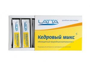 КЕДРОВЫЙ ЛАТТА-БИО Микс  (обогащенный природным витамином С)