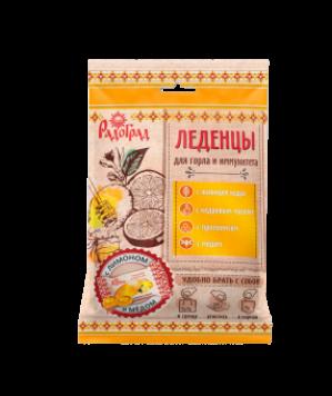 ЛЕДЕНЦЫ живичные Радоград в саше-пакете, с прополисом (лимон, мед на сахаре)
