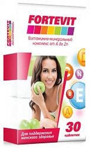 ФОРТЕВИТ таб. витаминно-минеральный комплекс д/женщин от А до Цинка N30 Внешторг Фарма