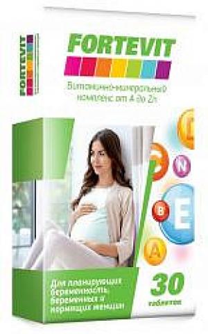ФОРТЕВИТ таб. витаминно-минеральный комплекс д/планирующих беременность/беременных/кормящих от А до Цинка N30 Внешторг Фарма