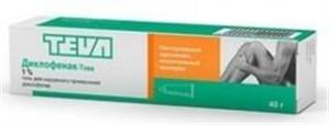 ДИКЛОФЕНАК-ТЕВА 1% 40г гель д/наружного применения Merckle