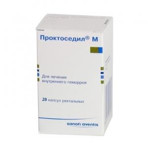 ПРОКТОСЕДИЛ М N20 капс. ректальные Aventis Pharma