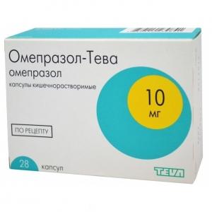 ОМЕПРАЗОЛ-ТЕВА 10мг N28 капс. кишечнорастворимые Teva