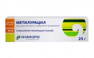 МЕТИЛУРАЦИЛ 10% 25г мазь д/местного и наружного применения Нижфарм