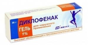 ДИКЛОФЕНАК 1% 40г гель д/наружного применения Озон