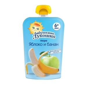 БАБУШКИНО ЛУКОШКО пюре Яблоко/банан 90г