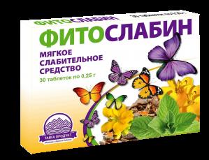 ФИТОСЛАБИН таб. 0,25г N30 Тайга-Продукт