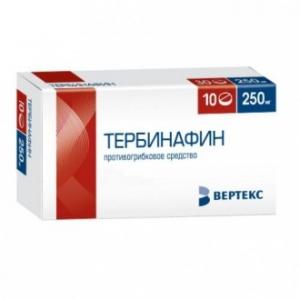 ТЕРБИНАФИН-ВЕРТЕКС 250мг N10 таб. ВЕРТЕКС АО