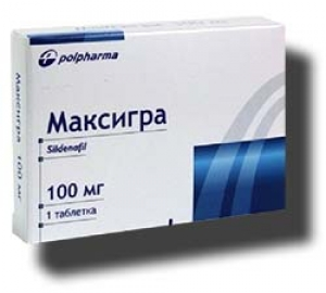 МАКСИГРА 100мг N1 таб. покрытые пленочной оболочкой Польфарма