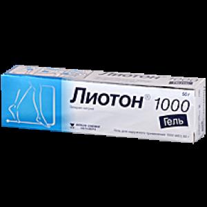 ЛИОТОН 1000 50г гель A.MENARINI Manufacturing Logistics
