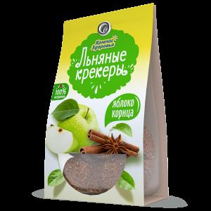 КРЕКЕР Льняной с яблоком и корицей 50гр