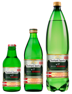 ЗАПОВЕДНИК  вода минеральная Здоровья №17 0,5