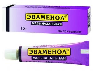 ЭВАМЕНОЛ 15г мазь от насморка МФФ