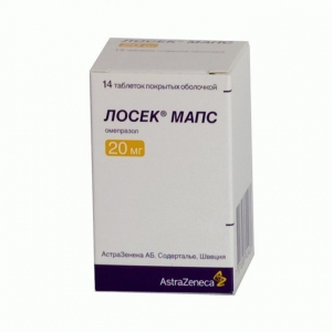 ЛОСЕК МАПС 20мг N14 таб. покрытые пленочной оболочкой Astrazeneca