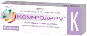 КОМФОДЕРМ К 0,1% 30г крем д/наружного применения Акрихин