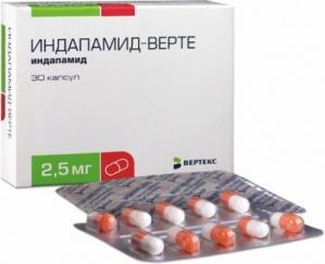 ИНДАПАМИД 1,5мг N30 таб. пролонгированного действия покрытые пленочной оболочкой Хемофарм