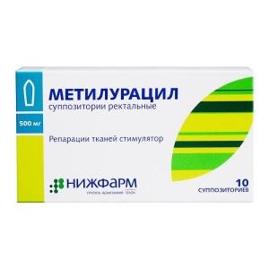 МЕТИЛУРАЦИЛ 500мг N10 суппозитории Нижфарм