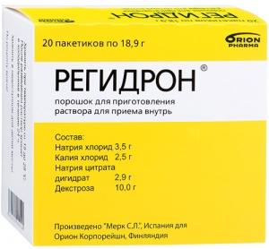 РЕГИДРОН N20 порошок д/приготовления р-ра д/приема внутрь Орион