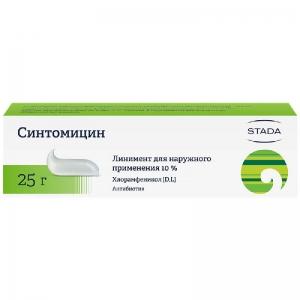СИНТОМИЦИН 10% 25г линимент Нижфарм
