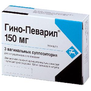 ГИНО-ПЕВАРИЛ 150мг N3 суппозитории Cilag