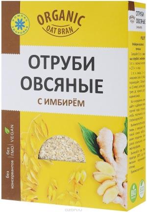 ОТРУБИ ОВСЯНЫЕ 200г Сибирская клетчатка Россия с имбирем