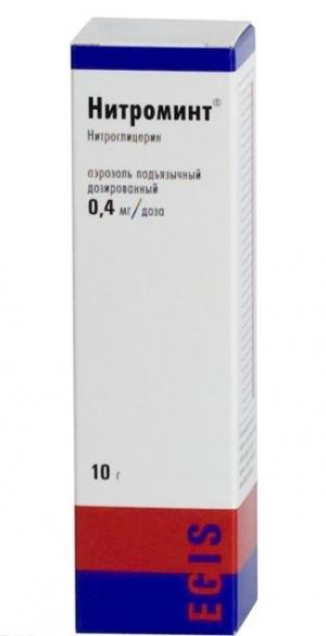 НИТРОМИНТ 0,4мг/доза 10г спрей подъязычный дозированный Эгис