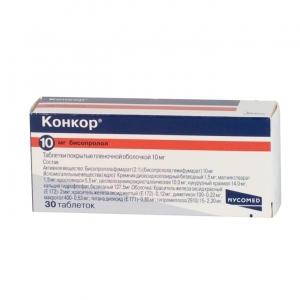 КОНКОР 10мг N30 таб. покрытые пленочной оболочкой Merck KGaA/Нанолек