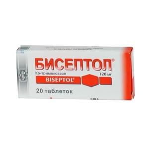 БИСЕПТОЛ 120мг N20 таб. Pabianice Pharmaceutical Works Polfa