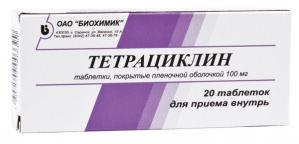 ТЕТРАЦИКЛИН 100мг N20 таб. Биохимик