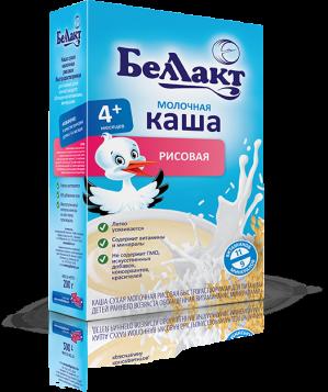БЕЛЛАКТ каша мол. рисовая 200г.