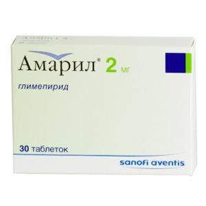 АМАРИЛ 2мг N30 таб. Санофи-Авентис С.П.А.