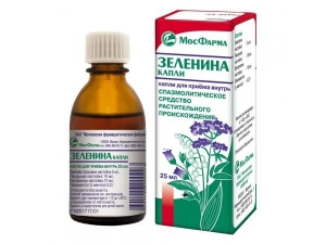 ЗЕЛЕНИНА КАПЛИ 25мл д/приема внутрь Кировская Фармацевтическая Фабрика