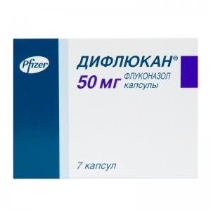 ДИФЛЮКАН 50мг N7 капс. Pfizer PGM