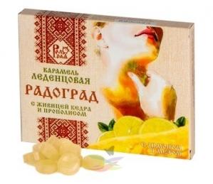 ЛЕДЕНЦЫ Живичные лимон мед №10
